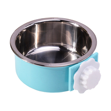 все цены на Pet Bowl Stainless Steel Pet Single Bowl Hanging Dish Bowls Feeder High Quality Dog Cat Pet Feeding Supplies Water Dispenser онлайн