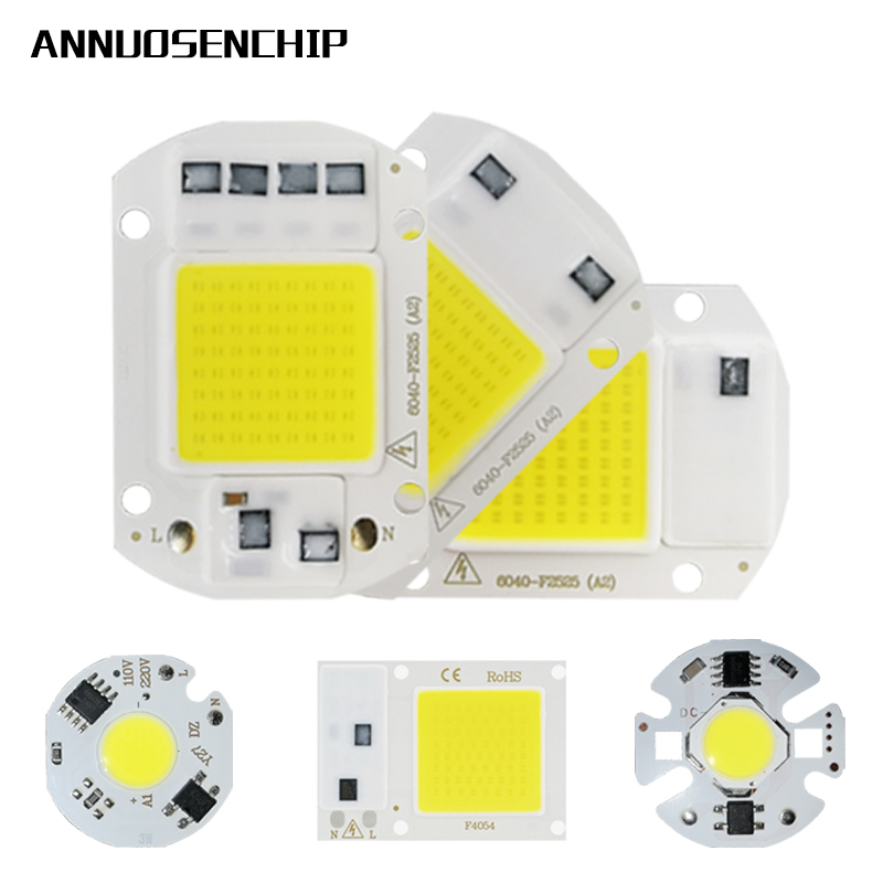 LED COB Chip 10W 20W 30W 50W 220V Smart IC No Need Driver 3W 5W 7W 12W LED Bulb Lamp For Flood Light Spotlight Diy Lighting