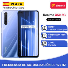 Versión global Realme X50 X 50 5G Smartphone 6GB 128GB Snapdragon 765G 6.57 '' 120Hz Ultra Display 48MP Quad Rear Cams 30W Charge
