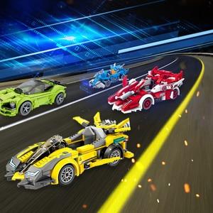 Image 1 - Snelheid Kampioen Supercar Compatibel Racing Bricks Auto Sport Roadster Bouwstenen Educatief Diy Speelgoed Voor Kid Kinderen Gifts