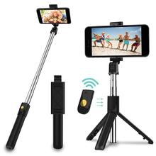 huawei honor af15 selfie stick tripod bluetooth 3 0 portable wireless bluetooth control handheld for for android ios huawei Portable Wireless Bluetooth Tripod Selfie Stick Removable Selfie Stick Remote Control For iPhone IOS Android Dropshipping