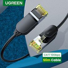 UGREEN-Cable Ethernet CAT7 de 10Gbps, Cable Mini delgado de 0,38mm de diámetro, RJ45 para ordenadores portátiles, Cable de módem PS 4 de red Lan