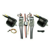 DIY çift elektrikli kaykay kiti 6354 motorlar ve ESC4.12 280A anti kıvılcım anahtarı 2450W Motor ve ESC Combo