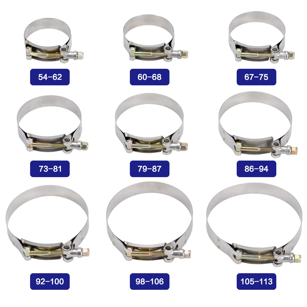 Repair Tool Welding Exhaust Hose Clamps Stainless Steel Pipe Clip T Bolt