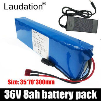 laudation 36V battery 36V 8ah electric bicycle 18650 battery pack 10S3P 500W High Power and Capacity Motorcycle Scooter with BMS eu us free tax 36v 500w 350w ebike 36v 17ah bottle battery pack electric bike dolphin lithium battery with usb and bms