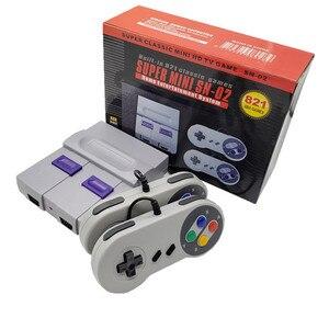 Wyjście HDMI Retro Classic przenośny odtwarzacz gier konsola do gier TV wideo dzieciństwa wbudowany w 821 gry Mini konsola