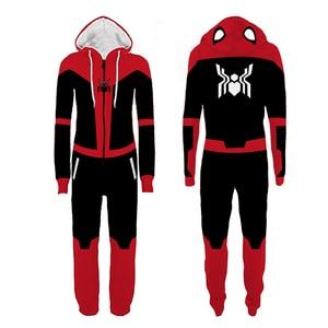 Image 4 - Erwachsene Deadpool Pijama Superhero Kostüm Mann Pyjamas Frauen Overalls Cosplay Halloween Kostüme für Frauen Weihnachten Party Outfit