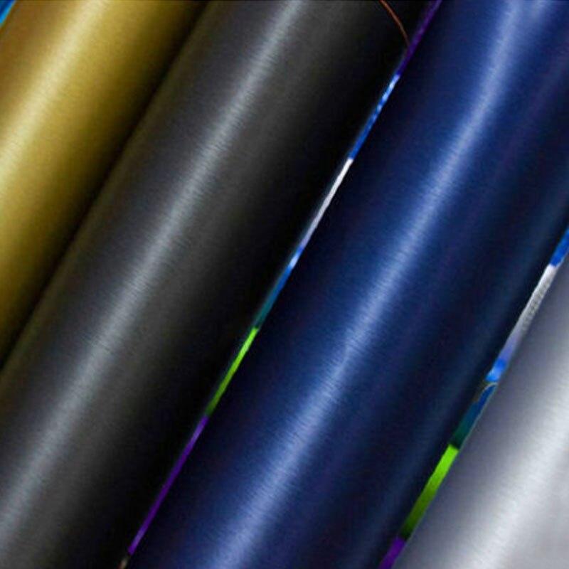 Samochód styl czarny ciemnoszary srebrny metaliczny szczotkowane aluminium winylowa folia samochodowa o rozmiarze: 10/20/30/40/50/60x152 CM/LOT