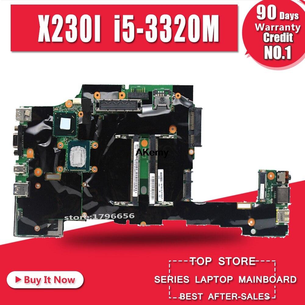 Ordinateur portable d'origine Lenovo ThinkPad X230 X230i carte mère carte mère i5 i5-3320M CPU avec ventilateur FRU 04x4501