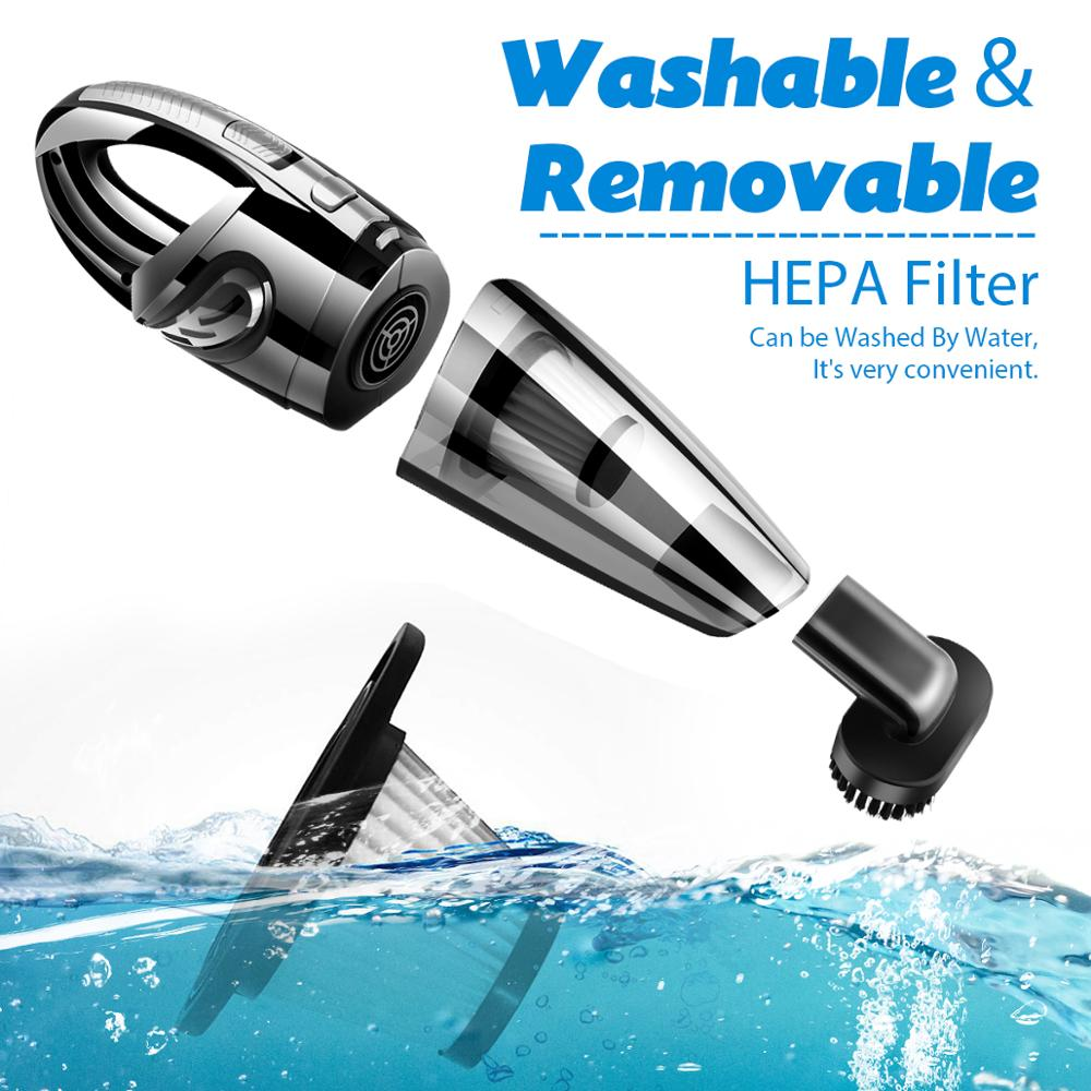 Portable Handheld Rechargeable Vacuum Cleaner, Cordless Wet Dry Hand Held Vac With Detail Manual