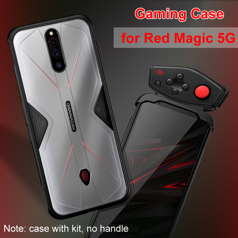for Nubia Red Magic 5G Phone 6.65 inch Case Accessories Soft Anti-knock Silicon PC Breathable Transparent Gaming Cover Funda