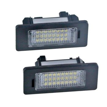 2PCS 24 LED 3528 SMD LED License Plate Lights Lamps Bulbs 6000K Cool White Fit for bmw E82 E90 E92 E93 M3 E39 E60 E70 X5 image