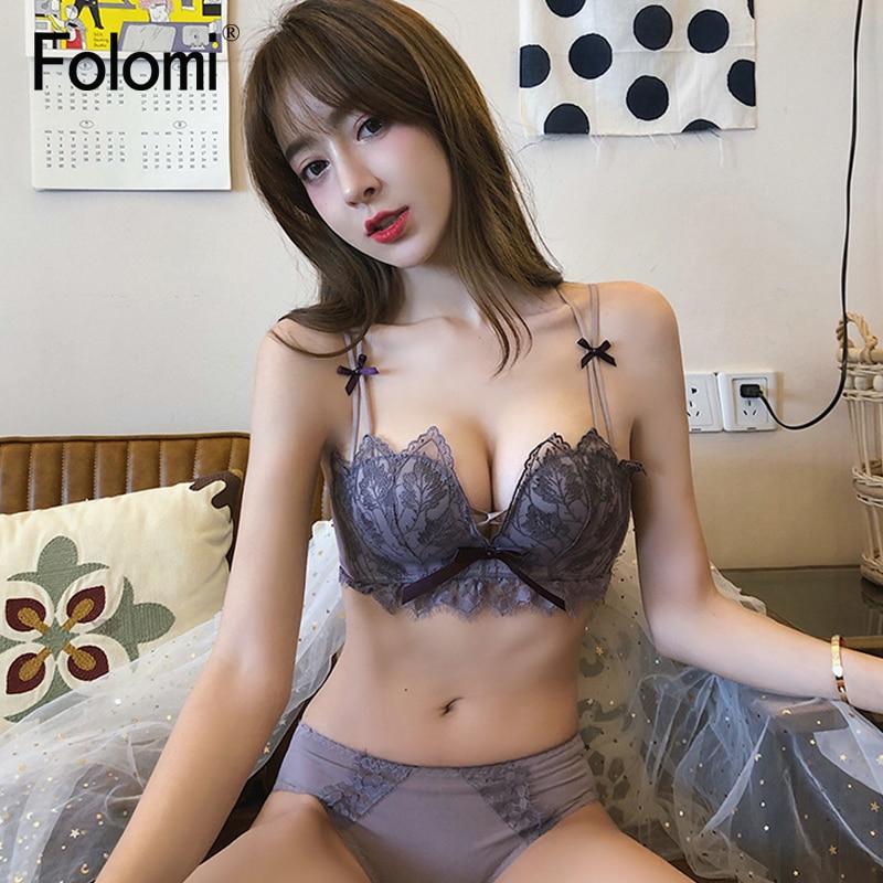 Top Sexy Deep V Underwear Set Women Lingerie Set Lace Push up Bra Panties Sets 1