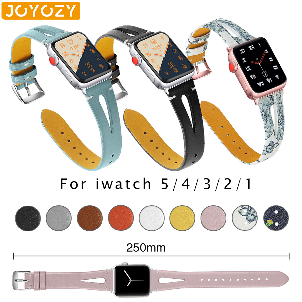 Joyozy Fashion Comfort Ladies Strap For IWatch Band Series 5/4/3/2/1 Leather Belt For Apple Watch Band 38 Mm 40mm 42mm 44mm
