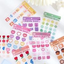 Sticker DIY Heart Stationery Computer-Decoration Scrapbook Junk Journal Candy Love Bear