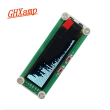 GHXAMP 2 inç OLED müzik spektrum modülü seviye göstergesi VU metre araba modifikasyonu bilgisayar MP3 DVD MP4 MP5 telefon DIY zaman DC5V
