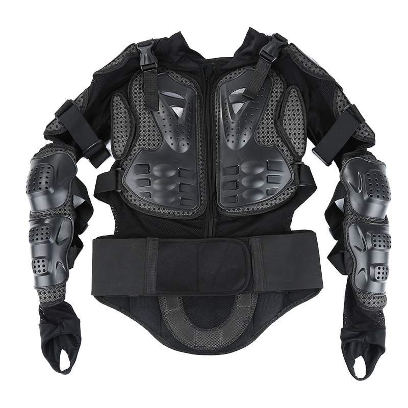 Motorcycle Armor Jacket Full Motocross Racing Jacket Black Motocross Back Shoulder Protector Gear Motorcycle Accessories S-XXXL