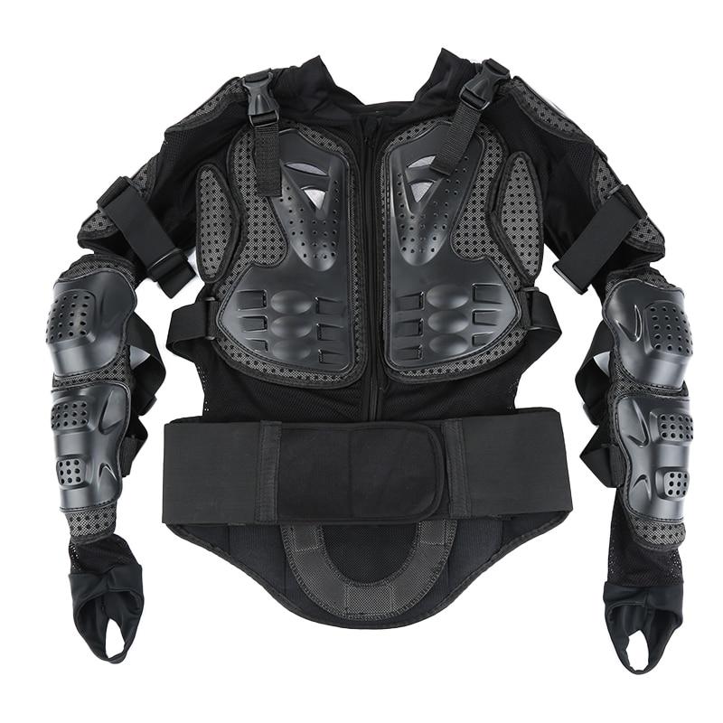 Motorcycle Armor Jacket Full Motocross Racing Jacket Black Motocross Back Shoulder Protector Gear Motorcycle Accessories S-XXXL