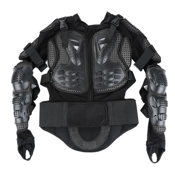 Pancerz motocyklowy kurtka pełna Motocross kurtka wyścigowa czarny Motocross na plecy ochraniacz ramienia akcesoria motocyklowe S-XXXL tanie i dobre opinie Armor Wstrząsoodporny Gąbka 1 x Motorcycle Protective Armor Jacket Dropshipping wholesale