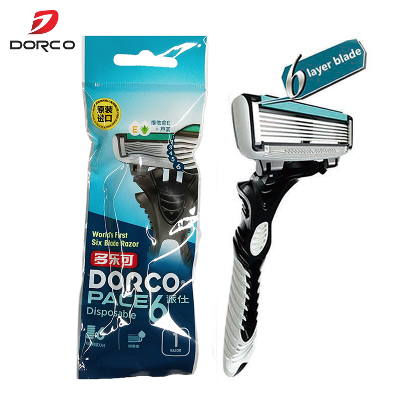 Dorco Razor Men 6-Layer Blades Razor For Men Shaving Stainless Steel Safety Razor Blades