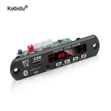 Módulo MP3 de 5V 12V placa decodificadora de MP5 WMA 1280x720, salida de 2 canales, módulo de Audio inalámbrico Bluetooth 5,0, compatible con e book, USB, TF Radio