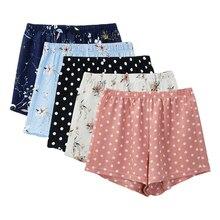 Moda floral de las mujeres de gasa de verano Pantalones cortos de playa suelto polka dot niñas pantalones cortos plus tamaño M30240
