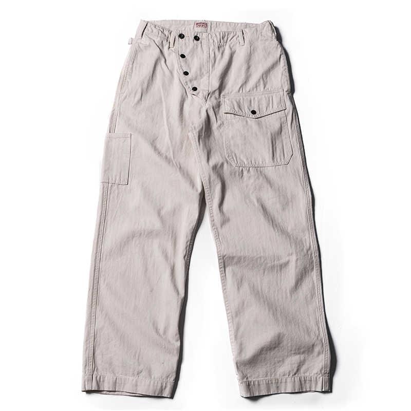Bronson Hbt Pantalones De Bombero Retro Para Hombre Pantalones De Trabajo Corte Holgado Color Blanco Pantalones Informales Aliexpress