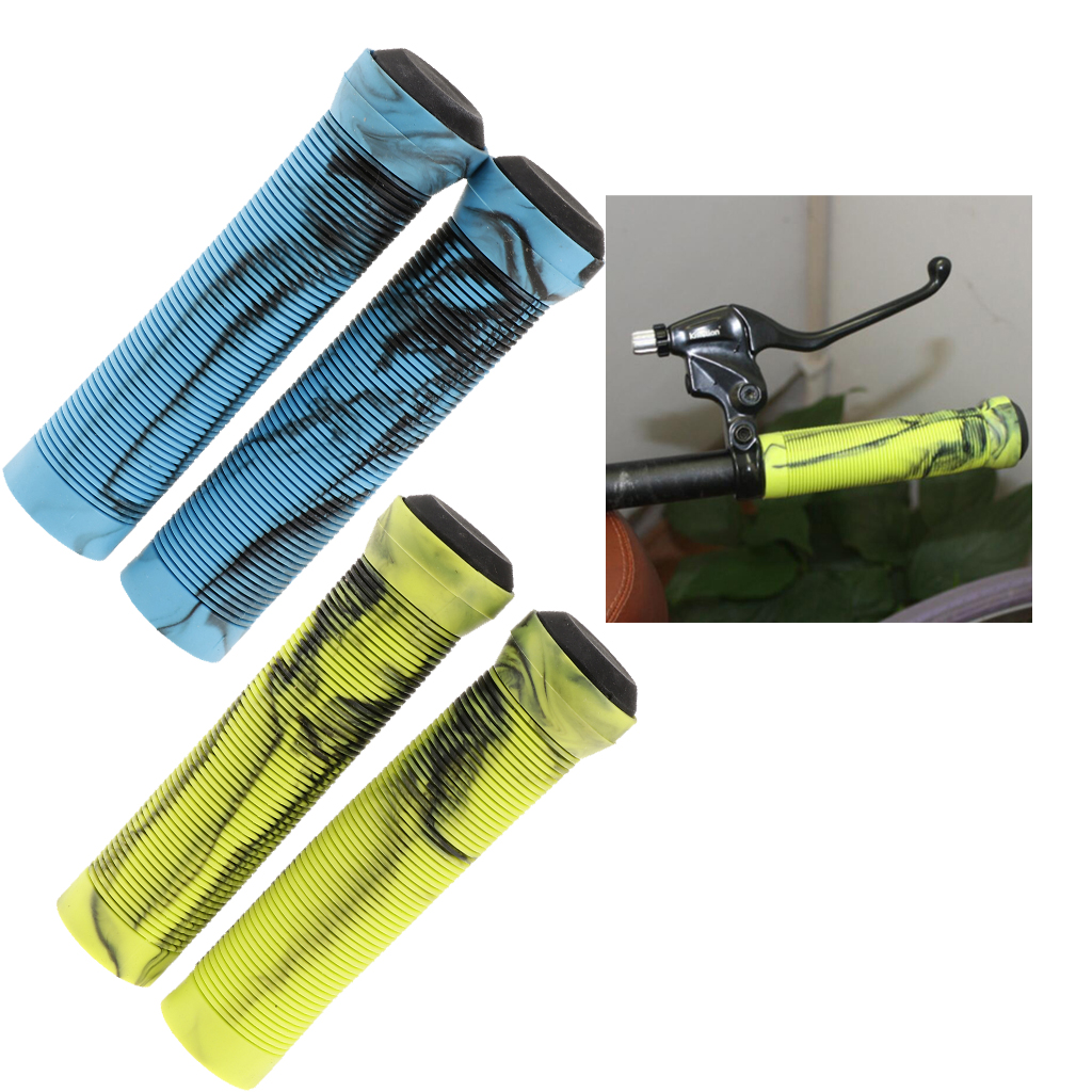 1 Pairs Bike Bicycle Handlebar End Grips Rubber Anti-slip Handle Grip Cycling Accessories