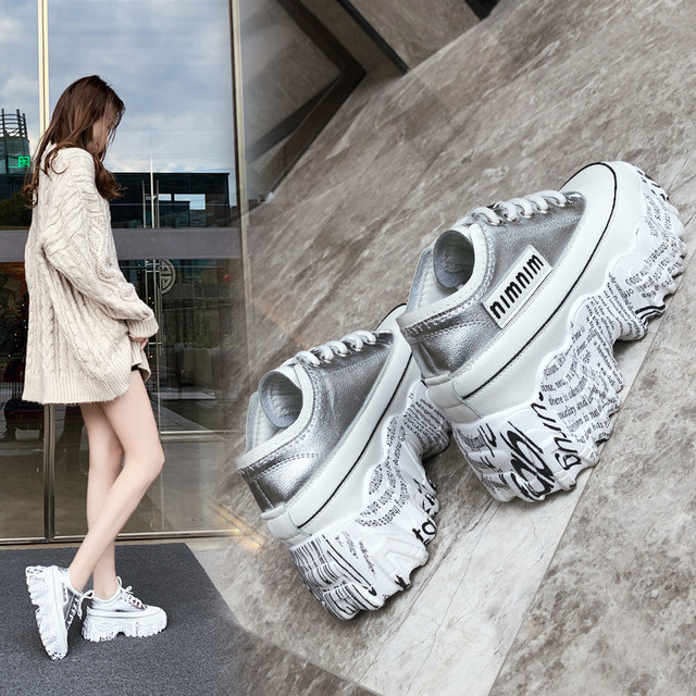 Chunky Sneakers Women 2020 Fashion Platform Shoes Basket Femme Vulcanize Shoes Womens Casual Krassovki Female Trainers