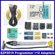 โรงงานราคา! ใหม่ล่าสุดรุ่น EZP2019 ความเร็วสูง USB SPI Support24 25 93 EEPROM 25 ชิป Flash BIOS + 5 ซ็อกเก็ต
