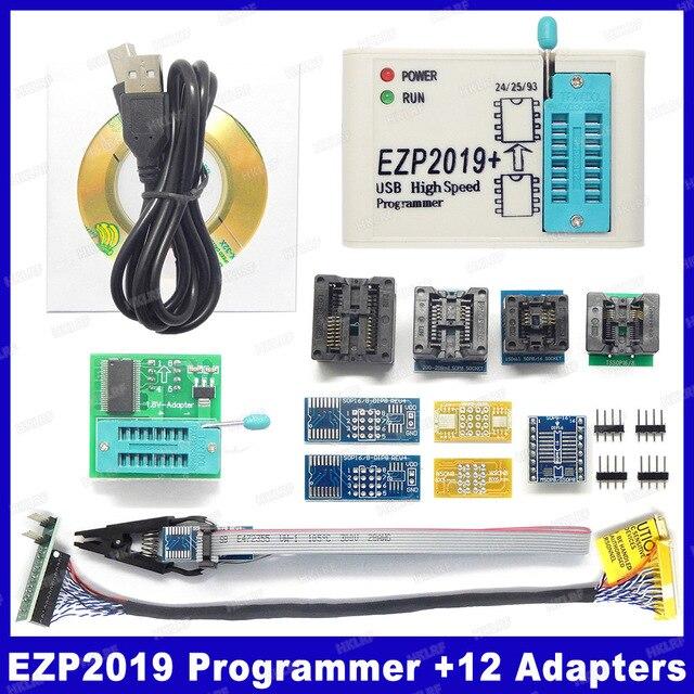 Factory Price! Newest Version EZP2019 High speed USB SPI Programmer Support24 25 93 EEPROM 25 Flash BIOS Chip+5 Socket