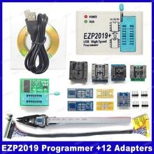 Prix dusine! Nouvelle Version EZP2019 programmeur SPI USB haute vitesse Support24 25 93 EEPROM 25 puce BIOS Flash + 5 prises