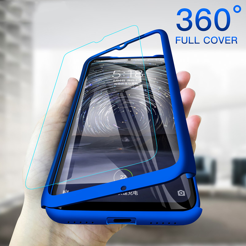360 Full Cover Phone Case For Xiaomi Redmi Note 8 7 6 A 5 5A 4A 4X 3 2 Pro Plus 4 Prime S3 S2 3S GO K20 Hard PC Shockproof Funda