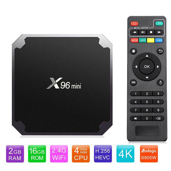X96 mini Smart Android 7.1 TV BOX Amlogic S905W Quad Core 4K Media Player 2.4GHz WiFi 2GB 16GB 1G/8G X96mini Android Set top box image