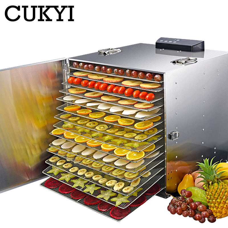 CUKYI 15 layers Stainless Steel Food Dehydrator 110V 220V Snacks Dehydration Dryer Fruit Vegetable Herb Meat Drying Machine EU-in Dehydrators from Home Appliances on AliExpress