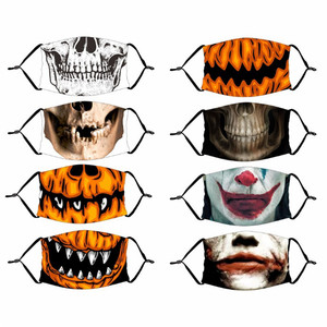 Halloween Decor Luminous Party Mask Dustproof Patterned Skull Horror Scary Mask Women Men Cosplay Props Halloween Decoration-S