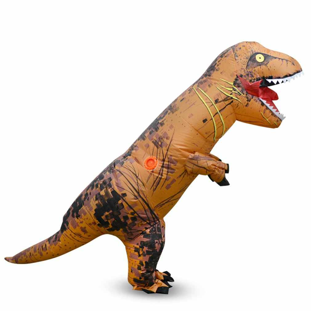 Adulto crianças traje de dinossauro inflável trajes dos homens das mulheres dinossauro alienígena festa de halloween fantasia vestido terno carnaval cosplay