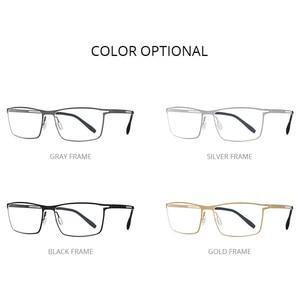 Image 5 - FONEX B monture de lunettes en titane pour hommes, verres Semi sans bords, ultralégers, pour myopie, monture optique, verres sans vis, 874