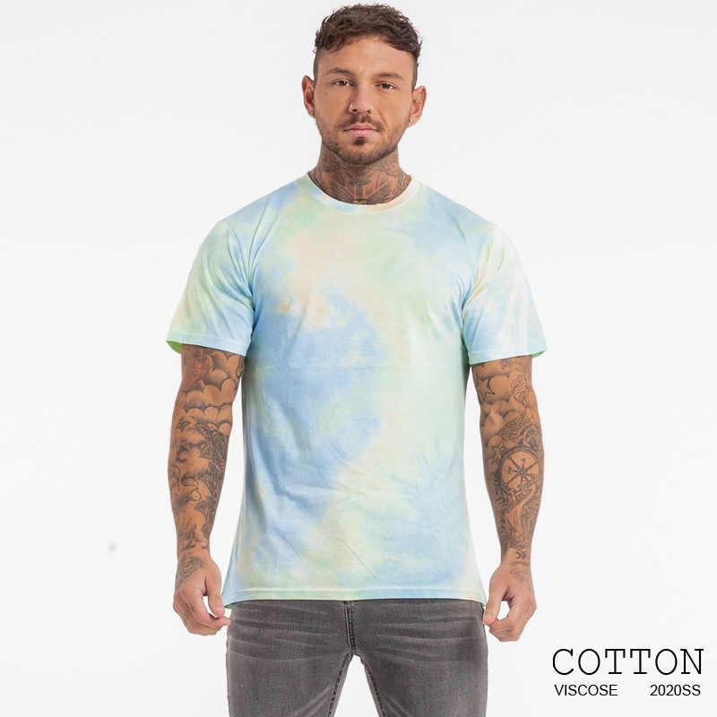 GINGTTO męska koszulka hiphop lato z krótkim rękawem zewnątrz bawełniana styl miejski Casual topy koszulki Slim Fit koszulki 2020 nowości
