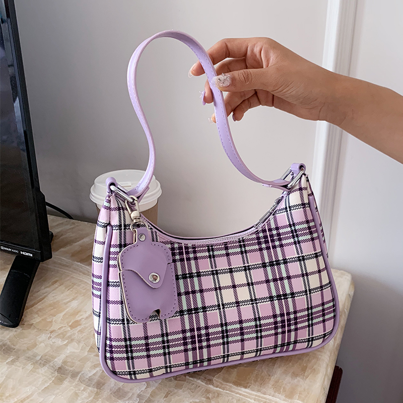 NEW French Design Fashion Lattice Armpit Bag & Elegant Handbag Shoulder Bag Width 24cm Height 18cm Thickness 8cm
