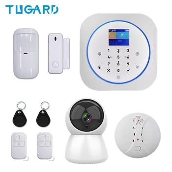 Беспроводная система сигнализации Tuya Smart 433 МГц GSM, 3g, 4G, Wi-Fi, система охранной и охранной сигнализации для дома с детектором дыма и ip-камерой