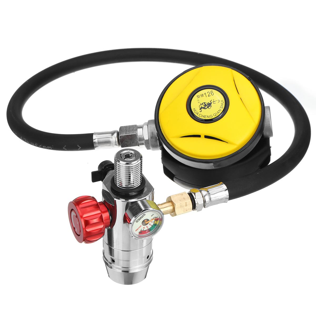 S400 Diving Equipment Mini Scuba Oxygen Cylinder Snorkel Air Tanks PCP Scuba Diving Valve Snorkeling Respirator Refill Adapter