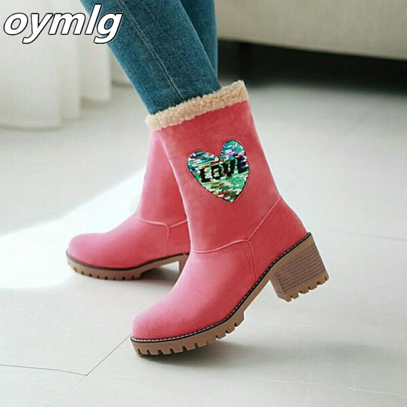 Women's Shoes Snow boots Ladies Winter Flock Warm Boots Martinas Ankle Boots Short Bootie Slip-On Outside Shoes Botas