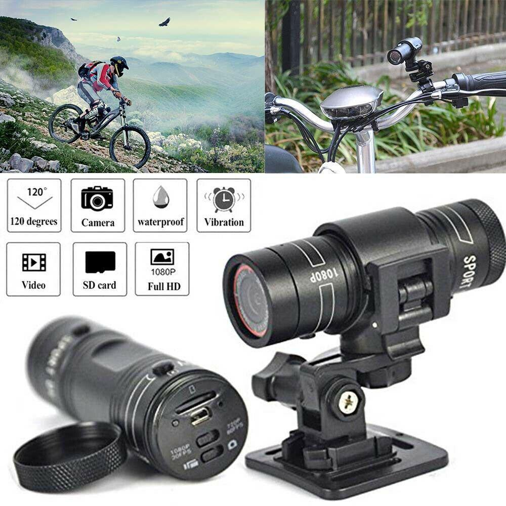 Mini camcorder F9 HD 1080P bicycle motorcycle helmet Sport spy camera video recorder DV camcorder degree remote monitor image