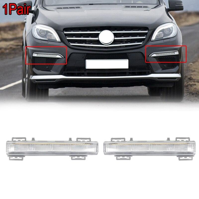 1 adet LED DRL gündüz çalışan far lambası Mercedes Benz W166 ML sınıfı ML500 X204 ML350 12-15 A2049065401