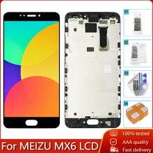 """5.5 """"oryginalny LCD + rama dla MEIZU MX6 wyświetlacz LCD ekran dotykowy Digitizer zgromadzenie wymiana część 100% testowane nie martwe pikseli"""