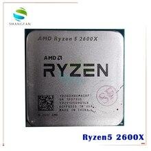 AMD Ryzen 5 2600X R5 2600X 3.6 GHz ستة النواة اثني عشر موضوع 95 واط معالج وحدة المعالجة المركزية YD260XBCM6IAF المقبس AM4