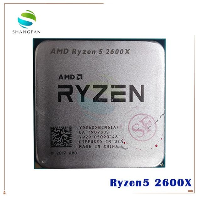 Amd ryzen 5 2600X R5 2600X 3.6 ghz 6 コア twelve スレッド 95 ワットの cpu プロセッサ YD260XBCM6IAF ソケット AM4