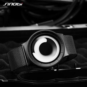 Image 4 - SINOBI Reloj único Vortex Concept para hombre, acero inoxidable 316L, banda de Milán, deportivo, de pulsera, negro