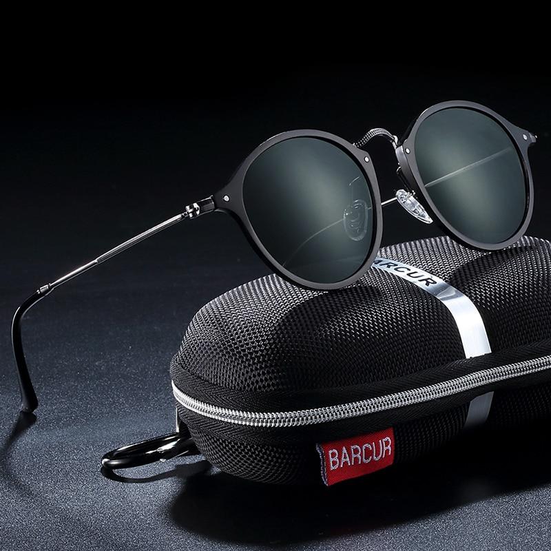 H21371e0729324a67bf818b8691d50d368 BARCUR Aluminum Vintage Sunglasses for Men Round Sunglasses Men Retro Glasses Male Famle Sun glasses retro oculos masculino